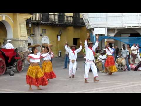 Traditional Dancing in Cartagena, Colombia -- Cumbia