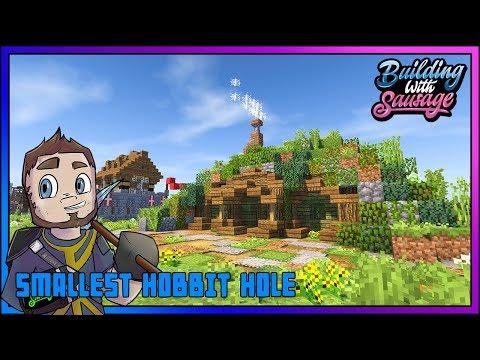 Minecraft - Building with Sausage - Smallest Hobbit Hole [Vanilla Tutorial 1.12]