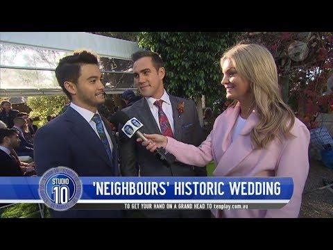 Behind The Scenes Of The 'Neighbours' Same-Sex Wedding | Studio 10