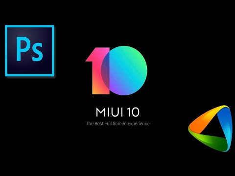 How to Design MiUi 10 Wallpaper with Adobe Photoshop