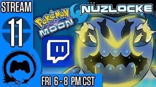 Pokemon Moon NUZLOCKE (BLIND) Part 11 - Stream Four Star
