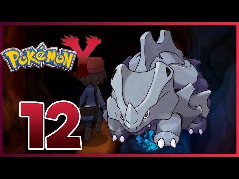Pokemon Y Walkthrough - Part 12 - Rhyhorn! (Pokemon Y Gameplay)