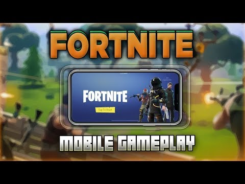 PLAYING FORTNITE BATTLE ROYALE ON MY PHONE! (Invite Only iOS Gameplay)