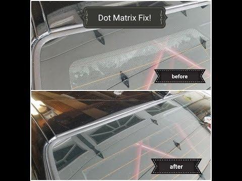 Window Tinting DOT MATRIX FIX!