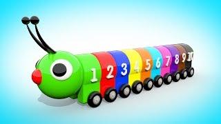 Download Мультик для малышей - УЧИМ ЦВЕТА И ЦИФРЫ Цветная Гусеница | Учимся считать от 1 до 10 Волшебство ТВ Video