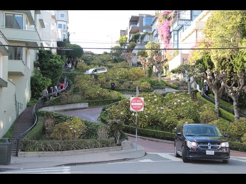 Lombard St, San Francisco's crookedest street ; Victorian homes on Hyde St 06 Dec 2016