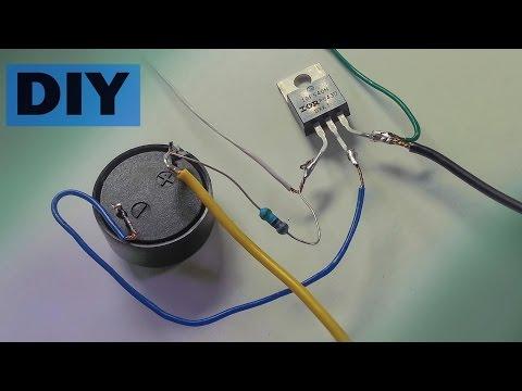 DIY Tripwire security alarm device using a transistor / Cut wire alarm / Wire Break Alarm
