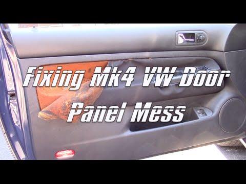1999-05 VW Golf GTI Jetta Mk4 MkIV Door Panel Cloth Removal Mess & Plasti Dip: Part 1