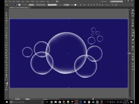 how to create bubbles design in adobe illustrator