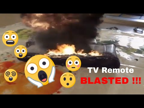 how the bomb blasted on TV remote
