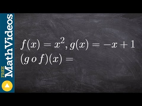 Algebra 2 - How to apply the compostion of two functions, f(x) = x^2; g(x) = -x + 1. Find (g o f)(x)