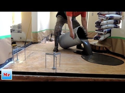 How to Make Plywood Subfloor Leveling for Tile Installation - Mryoucandoityourself