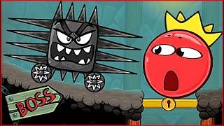 ОГРОМНЫЙ КВАДРАТ с ШИПАМИ В Подземелье напал на Красный Шарик ! Игра про шар red ball 4 от Спуди !