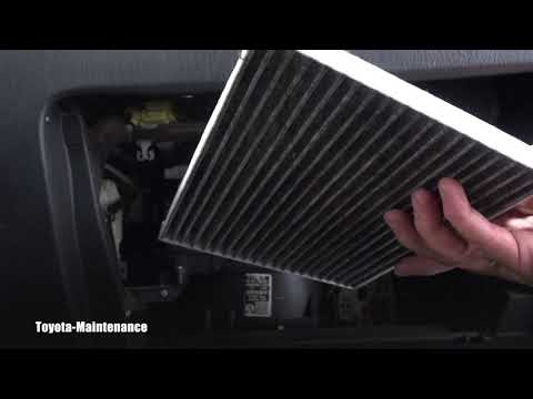 How to replace cabin filter on Toyota Matrix
