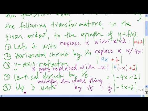 Finding the equation that results from performing graphical transformations