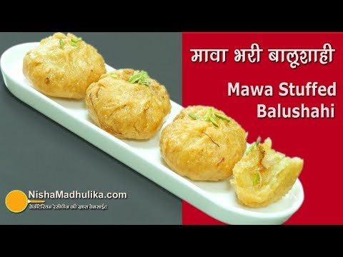 Balushahi recipe Mawa Stuffed | मावा भरी बालूशाही | Mawa Khurmi | Badusha