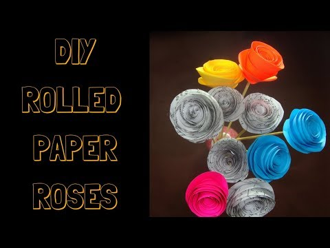 craft with paper. How to make rolled roses from paper . paper roses craft.