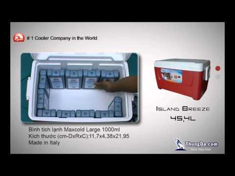 Hướng dẫn xếp 12 Đá Gel Giữ Lạnh MAXCOLD ICE PACK 1000ml vào HÒM LẠNH IGLOO Island Breeze 45L