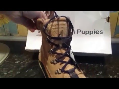 Hush Puppies Men's Jonah Cabe Waterproof Boot (video review, unboxing)