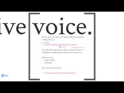Avoiding Passive Voice