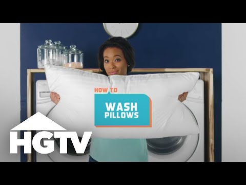 How to Wash Pillows - How to House - HGTV