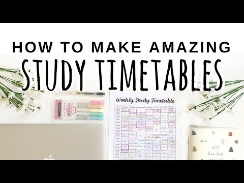 🌸🌸 HOW TO MAKE AN AMAZING STUDY TIMETABLE || STUDYWITHADELINE 🌸🌸
