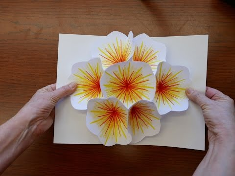 How to Make A Bouquet Flower Pop-up Card