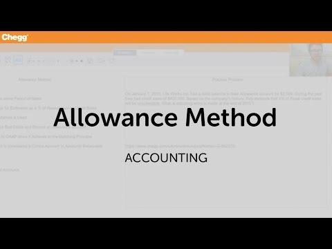 Allowance Method | Accounting | Chegg Tutors