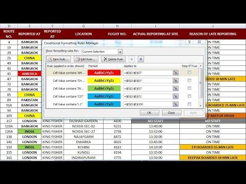 Excel Conditional Formatting. Hindi | EXCEL FORMULA