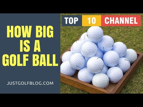 How Big is a Golf Ball in cm (centimeters) | Golf Ball Designs | Golf Ball Weight and Size