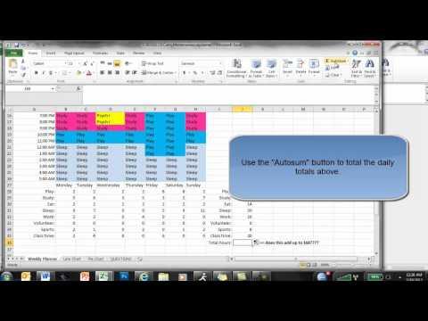 Excel Weekly Planner