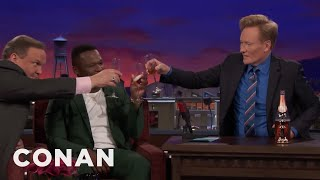 "Curtis ""50 Cent"" Jackson Pops A Bottle Of Pink Champagne - CONAN on TBS"