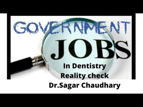 Govt jobs for dentist in India.The BITTER TRUTH.