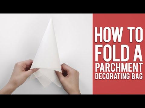 Learn How to Fold a Parchment Bag for Piping