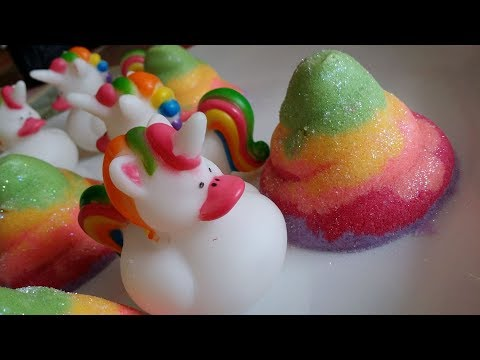 Making Unicorn Duck PoopSwirls Bubble Bath Bombs!