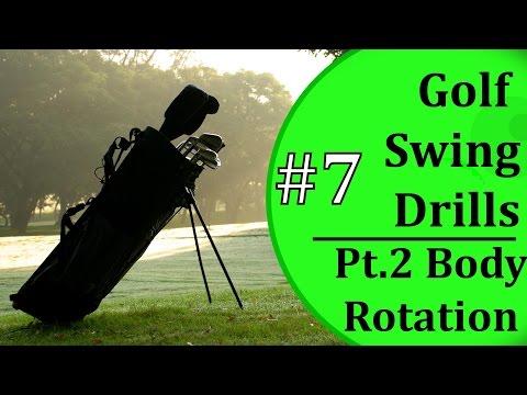 Beginner Golf Swing Drills - #7: Body Rotation Pt. 2 | Learn-To-Golf.com