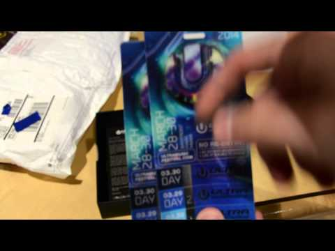 Ultra Music Festival 2014 General Admission Tickets Unboxing