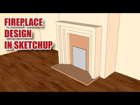 SIMPLE SKETCHUP Video - Art Deco Fireplace! [106]