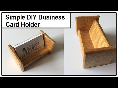 Woodworking Business Card Holder: A Simple Project Anyone Can Do