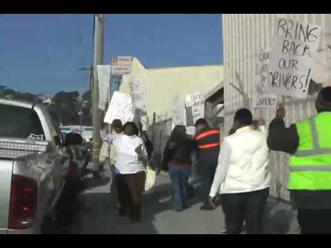 First Student UTU 1741 SF School Bus Drivers Protest Union Busting