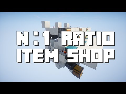 Minecraft: n:1 Ratio Item Shop [Spam Proof]