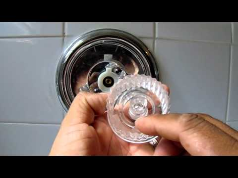 How to Adjust Bathtub or Shower Water Temperature Knob