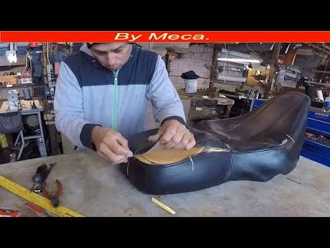 How to make  a motorcycle seat Cover out of vinyl. DIY
