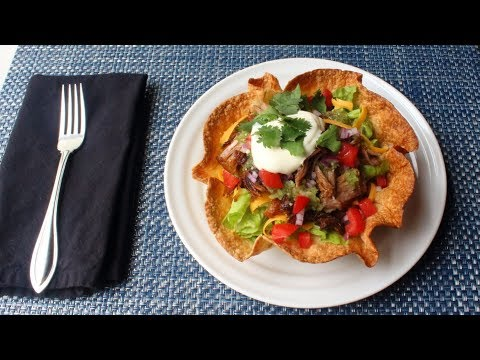 Crispy Basket Burrito - How to Make Crispy Tortilla Bowls in the Oven