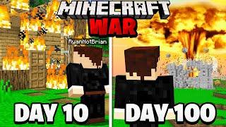 Surviving 100 Days in a Minecraft WAR.. here