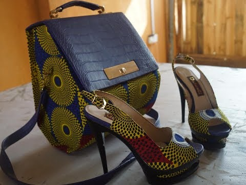 Making Leather Bag Mix With Ankara 2018