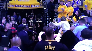 BLOOPERS: Oracle Arena Fans Fighting 2017 - Warriors Cavaliers Finals Game 2  - Lebron James Viral