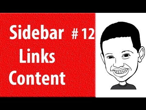How To Make A Website #12 Tutorial - Sidebar Page Links and Content