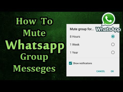 How To Mute & Silent Whatsapp Group Messages & Notifications Permanently