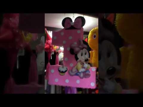 Numero 1 Minnie Mouse Piñatas Modernas